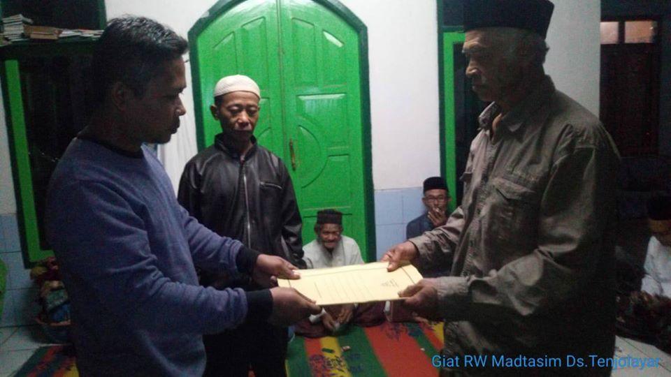 Andri Andriana Menjabat Ketua RT 14 Blok Langensari Desa Tenjolayar
